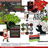 Chalkboard Christmas Element Pack