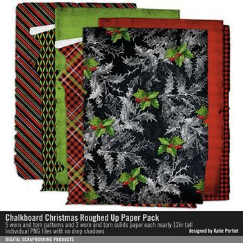 Chalkboard Christmas Roughed Up Paper Pack