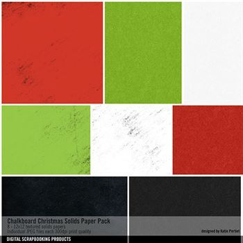 Chalkboard Christmas Solids Paper Pack