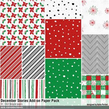 December Stories Add-on Paper Pack