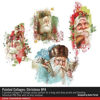 Painted Collages Christmas No. 04