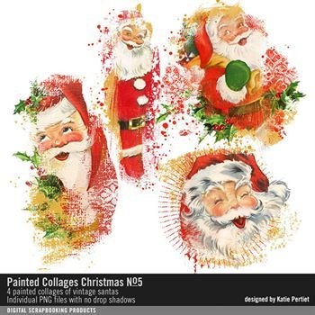 Painted Collages Christmas No. 05