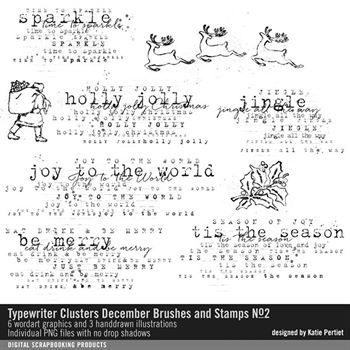 Typewriter Clusters December Brushes And Stamps No. 02