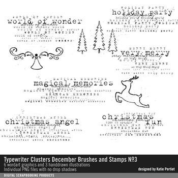 Typewriter Clusters December Brushes And Stamps No. 03