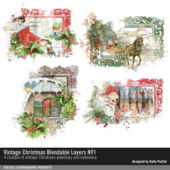 Vintage Christmas Blendable Layers No. 01
