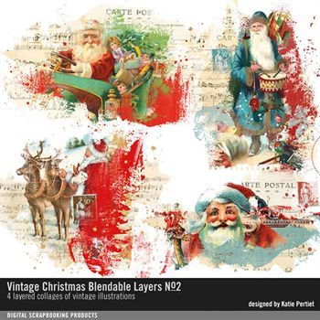 Vintage Christmas Blendable Layers No. 02
