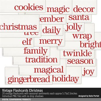 Vintage Flashcards Christmas