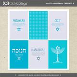 Happy Hanukkah Card Kit 4