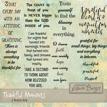 Thankful Moments Word Art