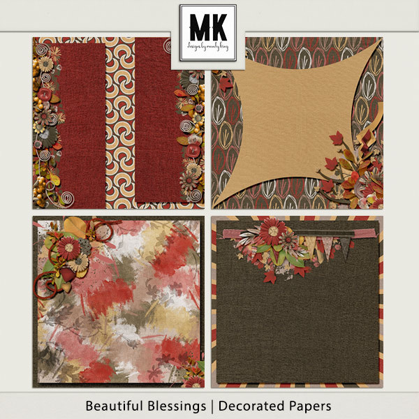 Beautiful Blessings - Decorated Papers