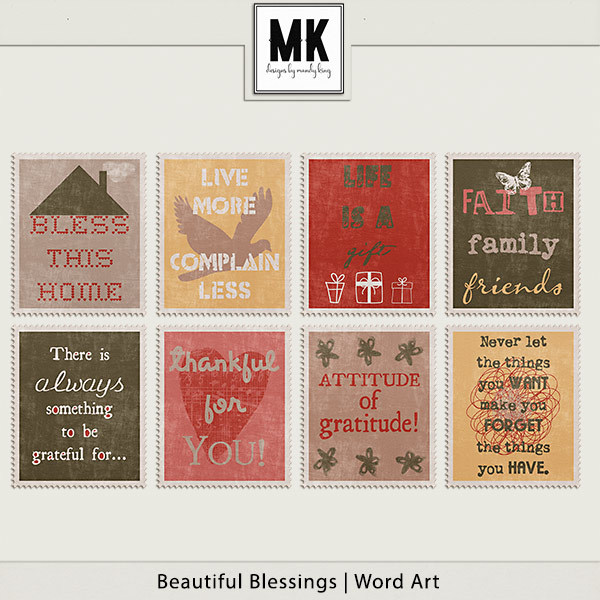 Beautiful Blessings - Word Art