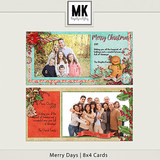 Merry Days - 8x4 Christmas Cards