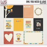Owl You Need Is Love - Pocket Cards