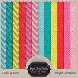 Holiday Glitz - Bright Chevorns