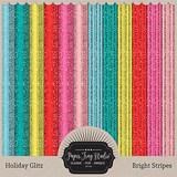 Holiday Glitz - Bright Stripes