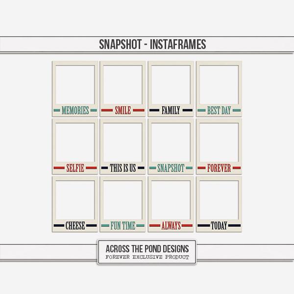 Snapshot - Instaframes Digital Art - Digital Scrapbooking Kits