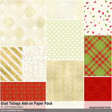 Glad Tidings Add-on Paper Pack