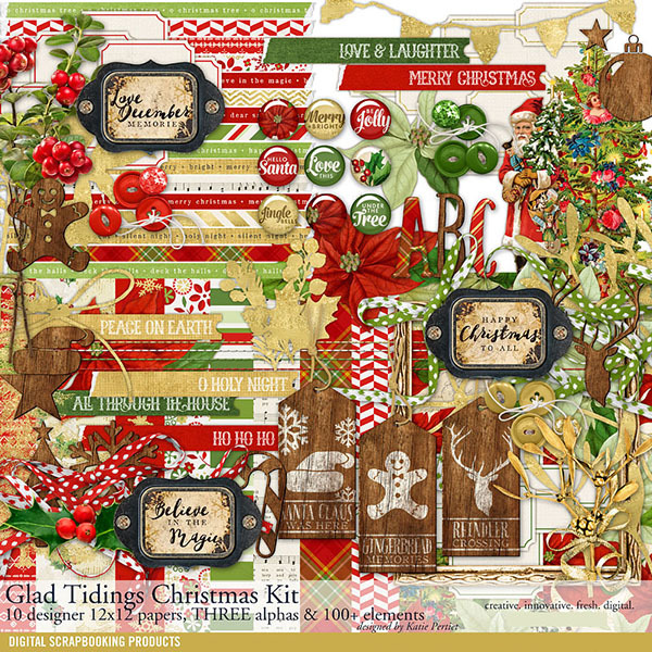 Glad Tidings Christmas Scrapbooking Kit