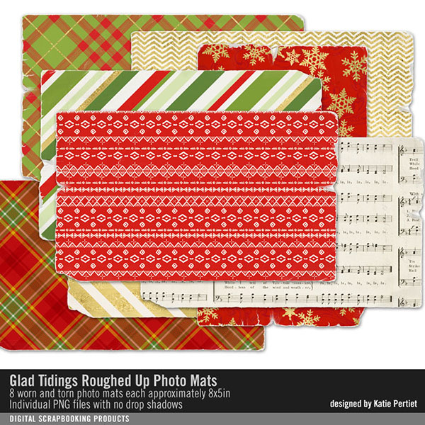 Glad Tidings Roughed Up Photo Mats