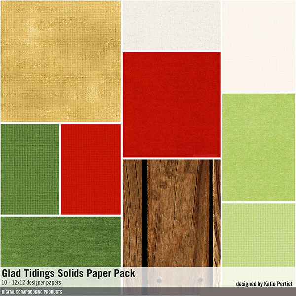 Glad Tidings Solids Paper Pack