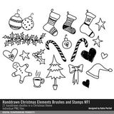 Handdrawn Christmas Elements Brushes And Stamps No. 01