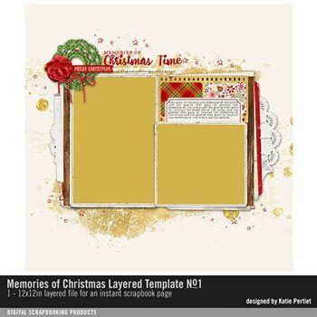 Memories Of Christmas Layered Template No. 01