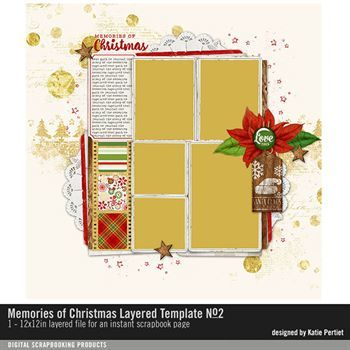 Memories Of Christmas Layered Template No. 02