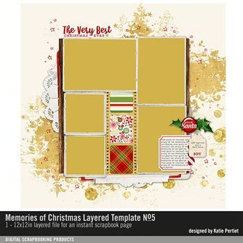 Memories Of Christmas Layered Template No. 05