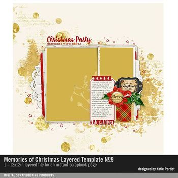 Memories Of Christmas Layered Template No. 09