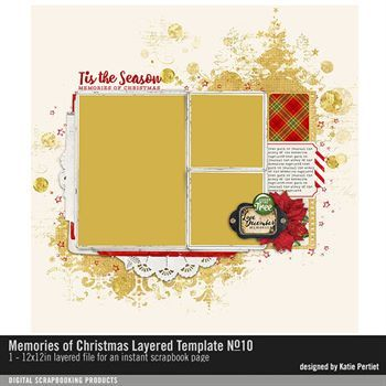 Memories Of Christmas Layered Template No. 10