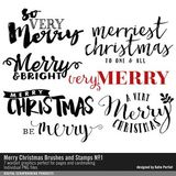Merry Christmas Brushes And Stamps No. 01