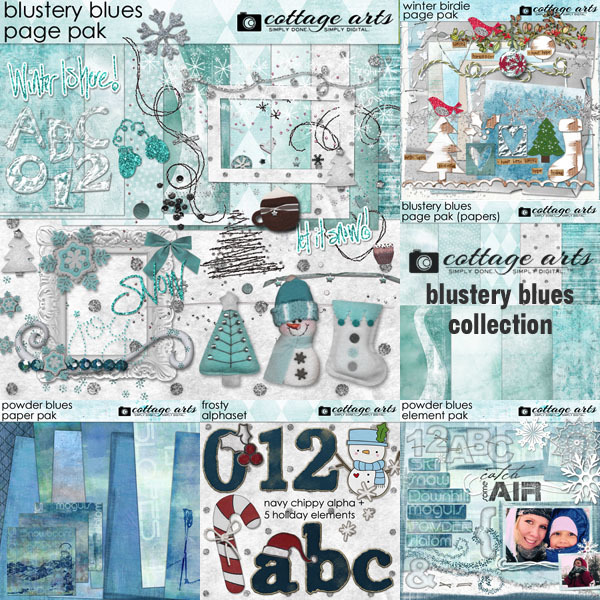 Blustery Blues Collection | Digital Art