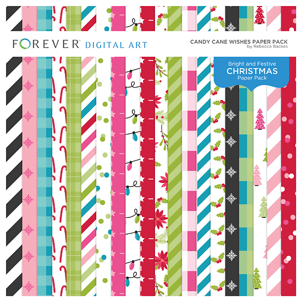 Candy Cane Wishes Paper Pack