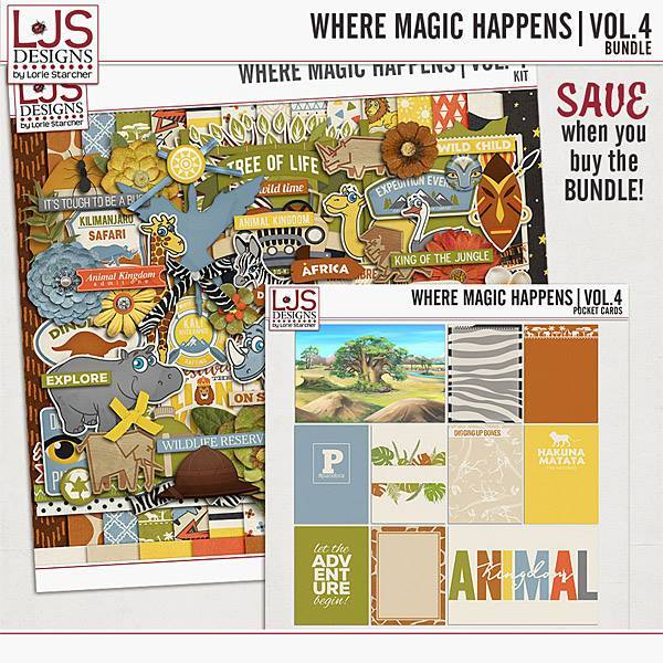 Where Magic Happens - Vol. 4 Bundle Digital Art - Digital Scrapbooking Kits