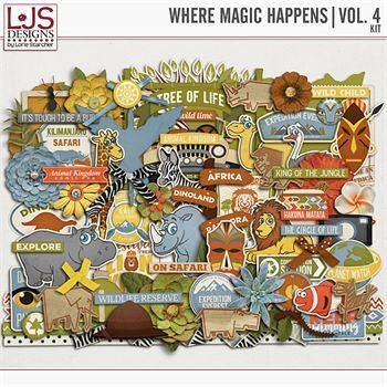 Where Magic Happens - Vol. 4 Elements Digital Art - Digital Scrapbooking Kits