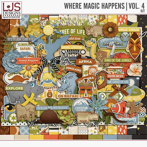 Where Magic Happens - Vol. 4 Kit Digital Art - Digital Scrapbooking Kits