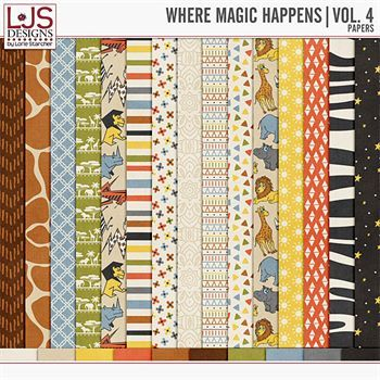 Where Magic Happens - Vol. 4 Papers Digital Art - Digital Scrapbooking Kits