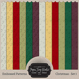 Embossed Christmas Patterns - Set 1
