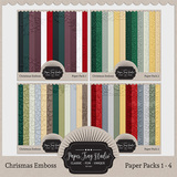 Embossed Frame Christmas Papers - Discounted Bundle