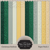 Embossed Frame Christmas Papers - Paper Pack 2