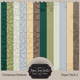 Embossed Frame Christmas Papers - Paper Pack 3