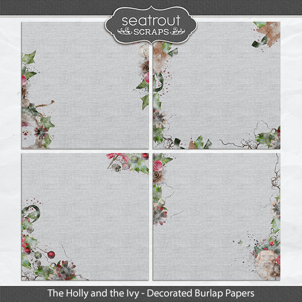 The Holly And The Ivy Burlap Papers