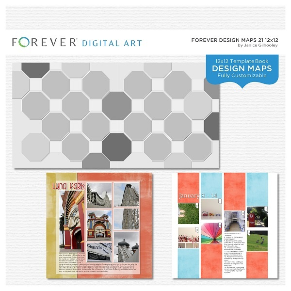 Forever Design Maps 21 12x12