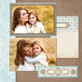 Vintage Chic 12x12 Digital Predesigned Pages