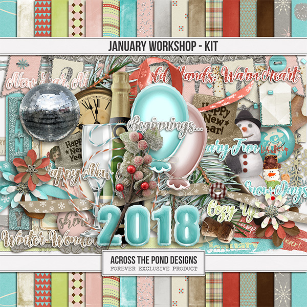 January Workshop - Page Kit Digital Art - Digital Scrapbooking Kits