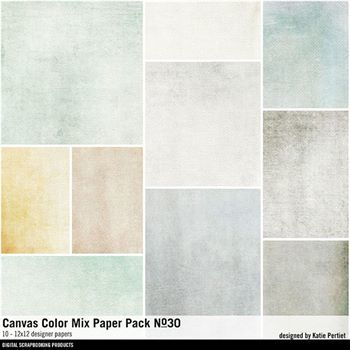 Canvas Color Mix Paper Pack No. 30