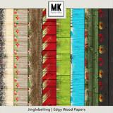 Jinglebelling - Edgy Wood Papers