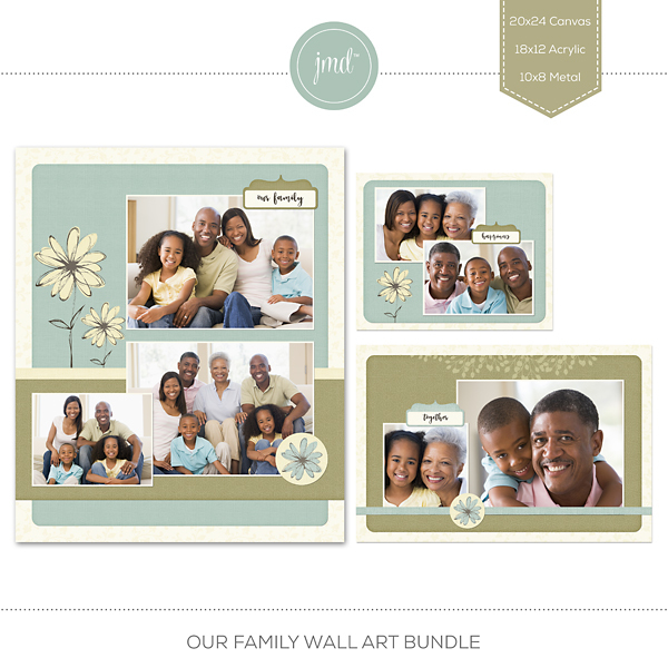 Our Family Wall Art Bundle Digital Art - Digital Scrapbooking Kits