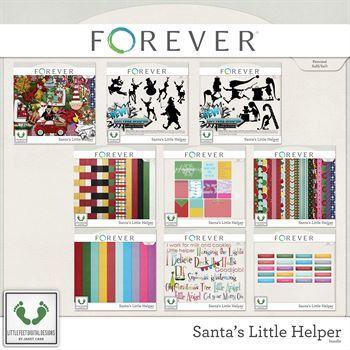 Santa's Little Helper Digital Art - Digital Scrapbooking Kits