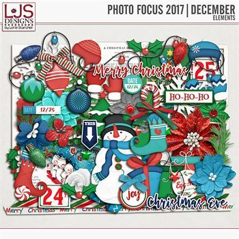Photo Focus 2017 - December Elements Digital Art - Digital Scrapbooking Kits